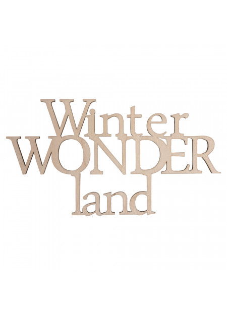 Houten tekst Winterwonderland