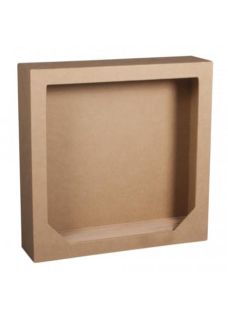 Papier maché lijst met houten bodem