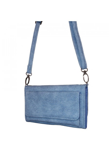 Dames schoudertas/portemonnee 006 blauw