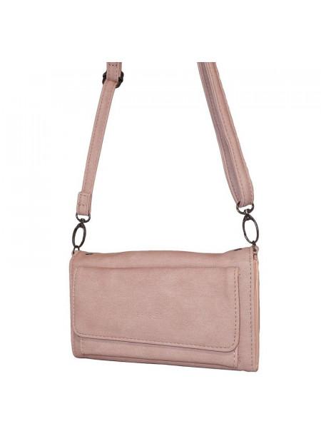 Dames schoudertas/portemonnee 006 roze