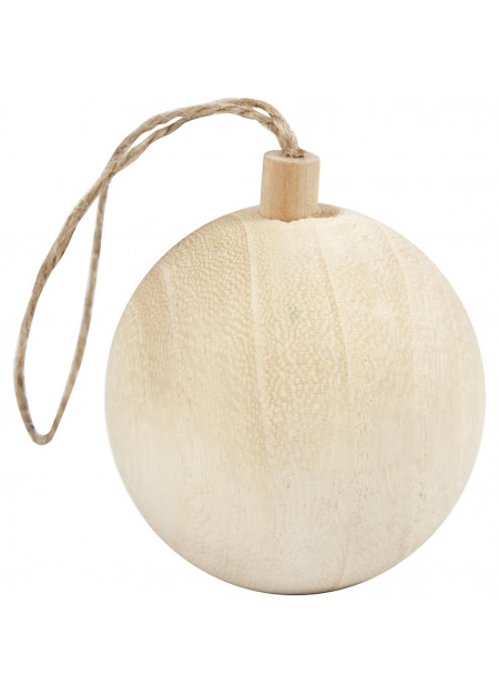 Kerstbal hout L