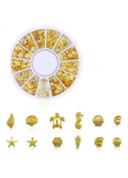 Decoratie doosje zee goud