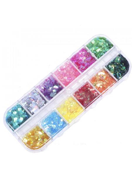 Holografische Glitter decoratie vakkendoos II