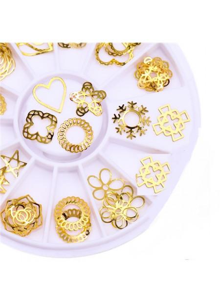 Decoratie doosje - goud 6