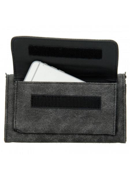 Dames clutch/portemonnee 007 zwart