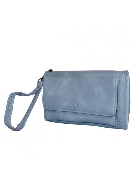 Dames clutch/portemonnee 007 jeansblauw