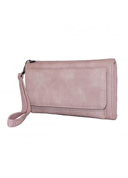 Dames clutch/portemonnee 007 roze