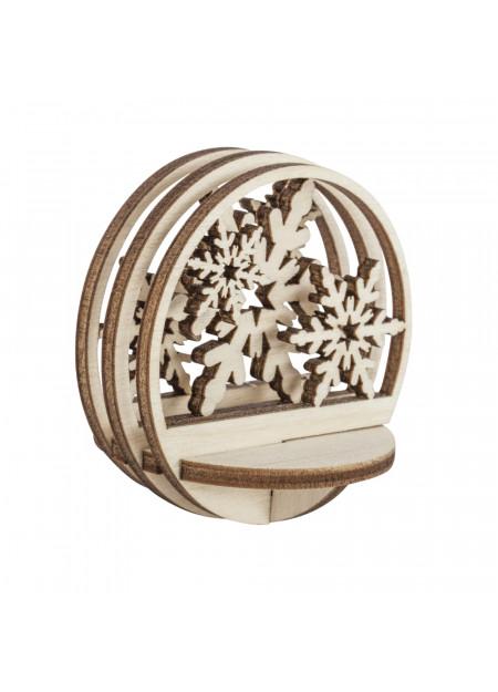 Sneeuwvlok houten steekdelen
