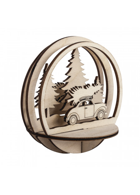 Bomen en auto houten steekdelen