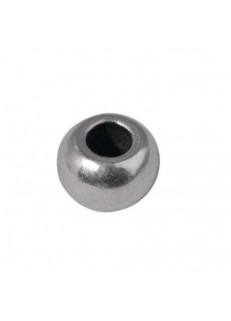 Metalen zilveren kraal