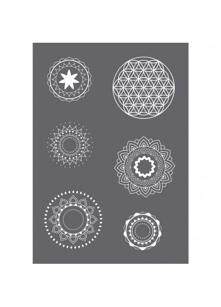 Zeefdruk-sjabloon Mandala