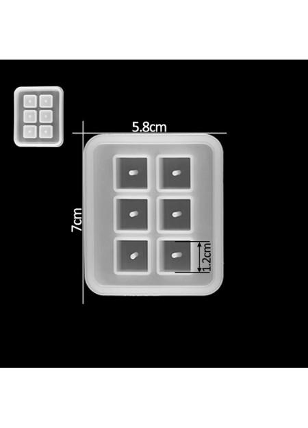Kralen kubus 10 mm