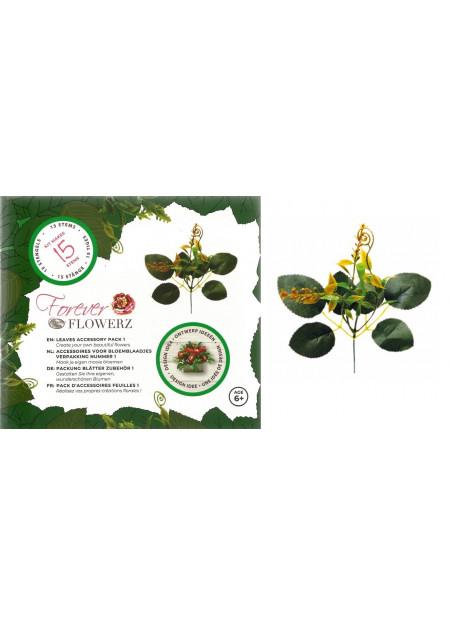 Bloemstengels en bladgroen - geel