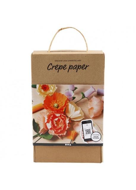 Crepe papieren bloemen kit.