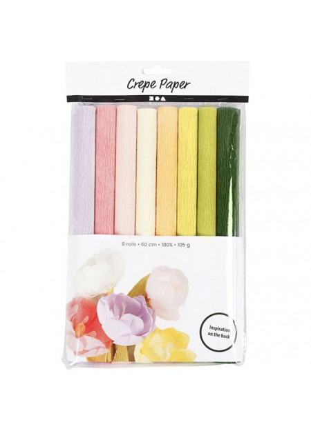 Crepepapier pastel 180%