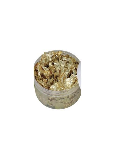 Deco metaal vlokken - goud