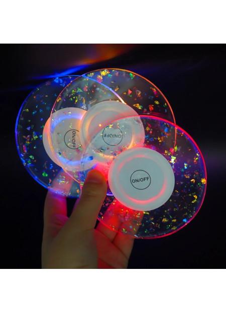 Set onderzetter met LED verlichting