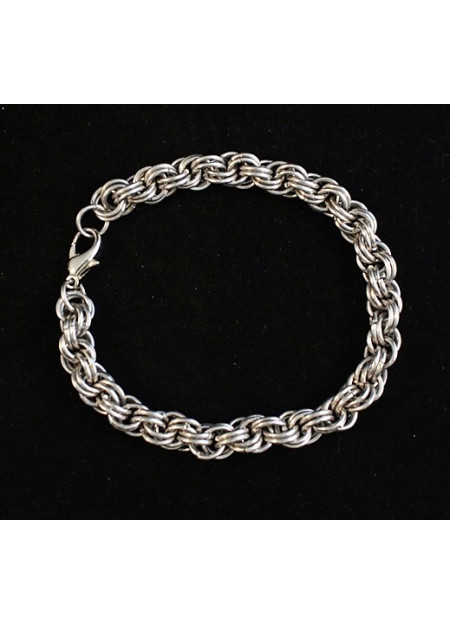 """Chainmaille sieraad """"Double spiral"""""""