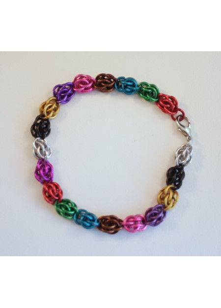 "Chainmaille armband ""Sweet Pea"""