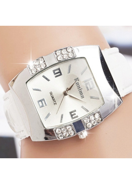Horloge kroko wit