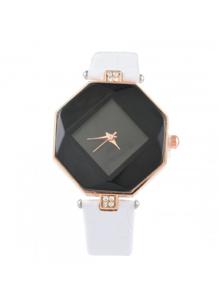 Octagram facet horloge