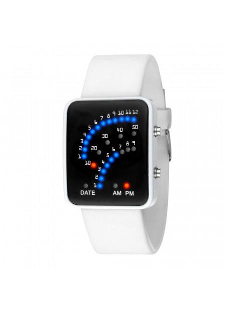 Futuristic sport horloge wit