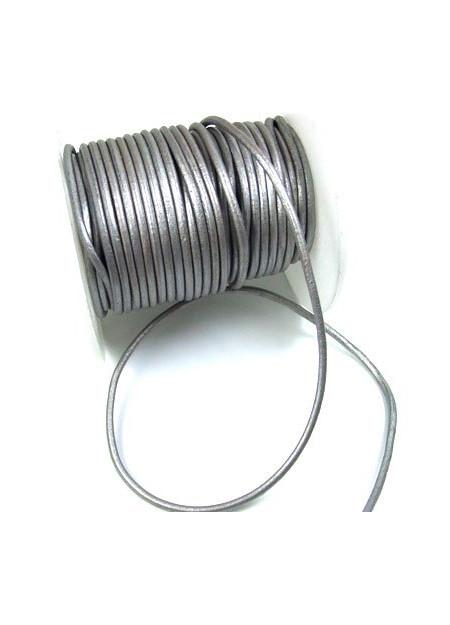 Leerveter zilvergrijs metallic