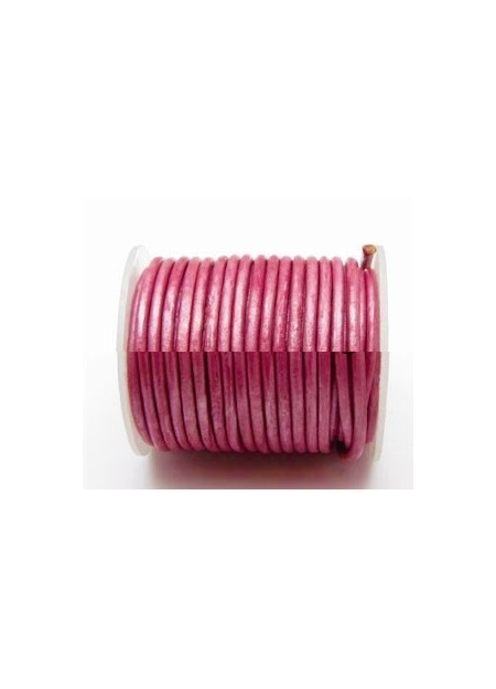 Leerveter fuchsia roze metallic