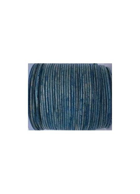 Leerveter vintage blue