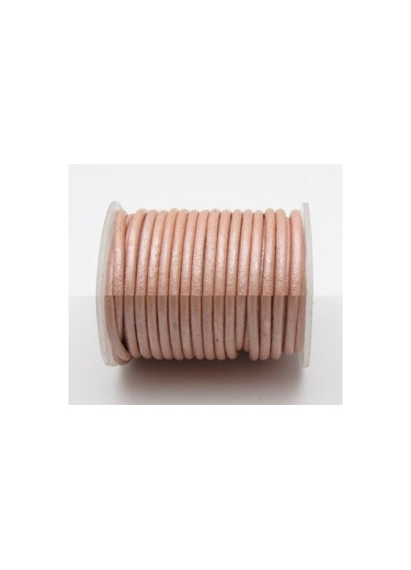 Leerveter poeder-roze metallic
