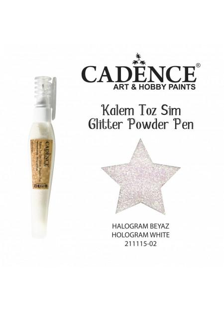 Glitterpoeder pen hologram wit