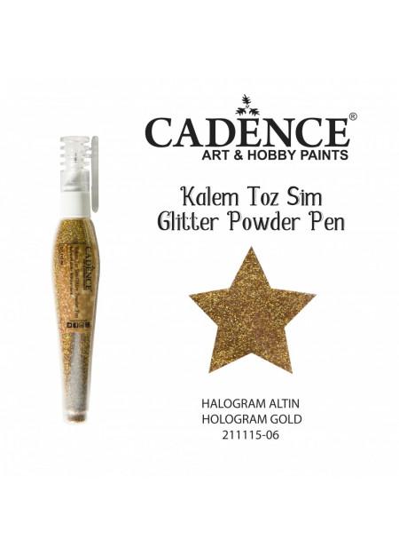 Glitterpoeder pen hologram goud