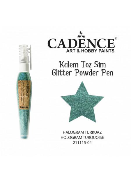 Glitterpoeder pen hologram turkoois