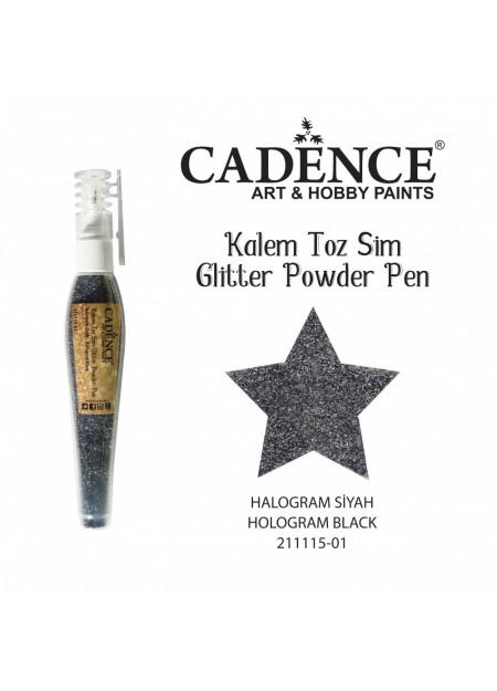 Glitterpoeder pen hologram zwart